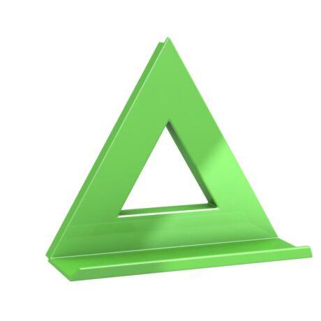 MEGA mágnes háromszög XL, zöld 75x75, tálcával