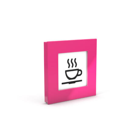 MEGA mágnes négyzet XL, rózsaszín 75x75, fénykép keret