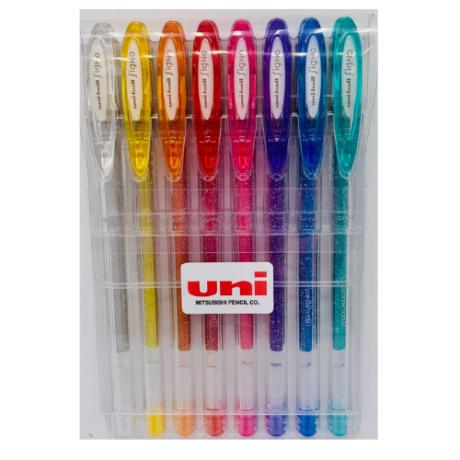 UNI UM-120SP 8db-os készlet (ezüst, arany, narancs, piros, rózsaszín, lila, kék, zöld)