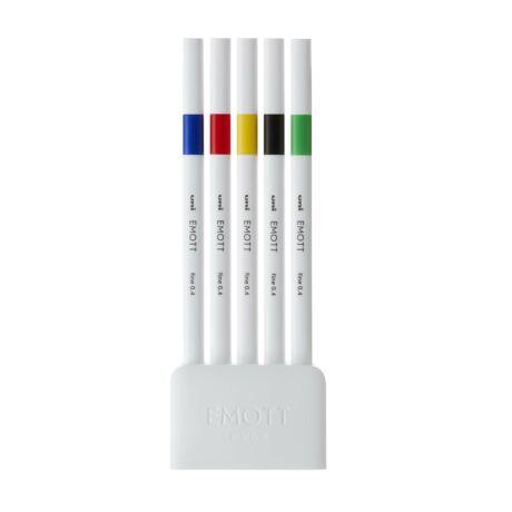 UNI EMOTT 5db-os TŰFILC KÉSZLET (kék, piros, sárga, fekete, zöld)